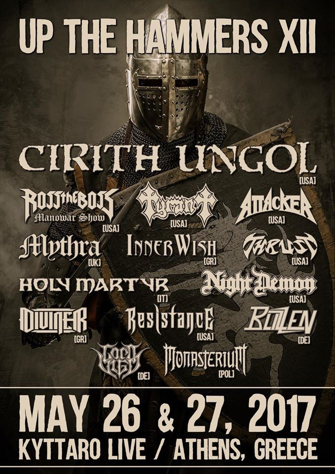 Οι Cirith Ungol headliners στο Up The Hammers Festival XII