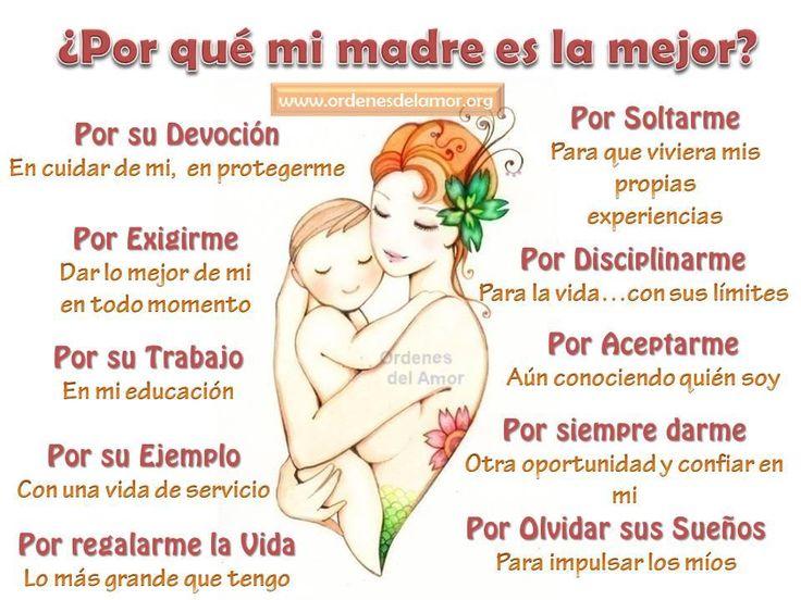 Mi madre es la mejor, yo amo a mi madre