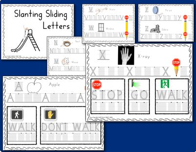 Handwriting Without Tears style printing workbook: Free Sample, CAPITALS FIRST!