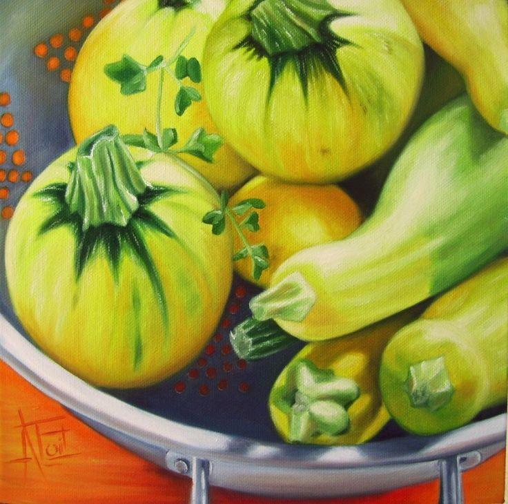 Pumpkins Oil on canvas 25cm x 25cm SOLD