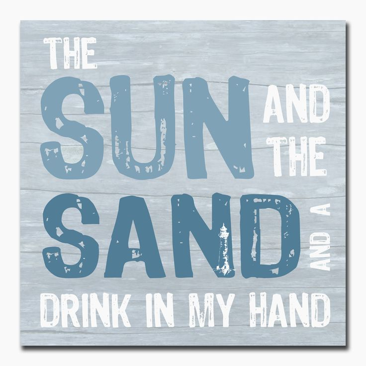 Drink My Hand: Sun, Sand And A Drink In My Hand