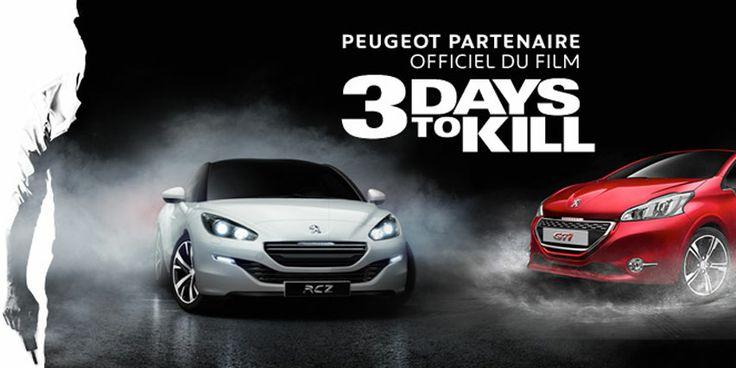 #Peugeot #3daystokill #Peugeot208GTI #RCZR #KevinCostner
