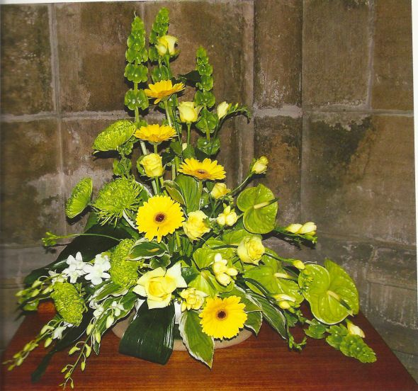 Flower Arrangement For Church Wedding: From Judith Blacklock's Church Flowers Book