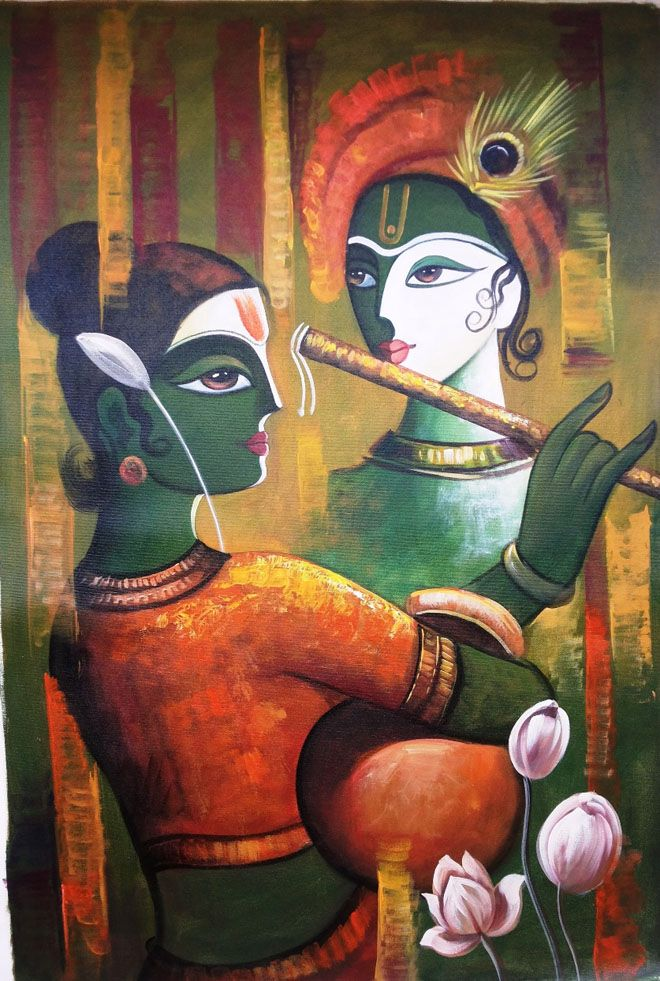radha krishna in indian art -
