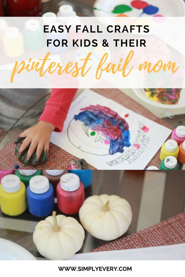 Need a Halloween craft idea to do with your kids? Read below for My Perfect Mess – inspired easy fall crafts!