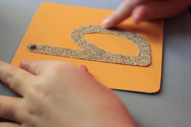 Tracing sandpaper letters is a great way to learn letter formation. Repinned by Columbus Speech & Hearing Center. For more ideas like this visit www.pinterest.com/ColumbusSpeech