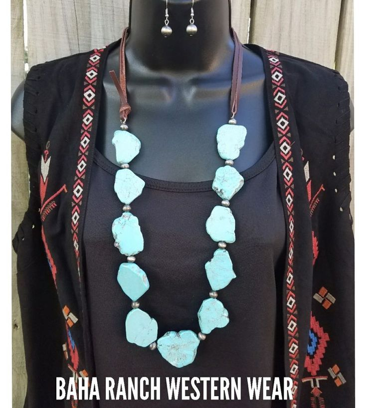 Cowgirl Bling  TURQUOISE chunky  SLAB NECKLACE COUTURE  GLAM  | Jewelry & Watches, Handcrafted, Artisan Jewelry, Necklaces & Pendants | eBay!