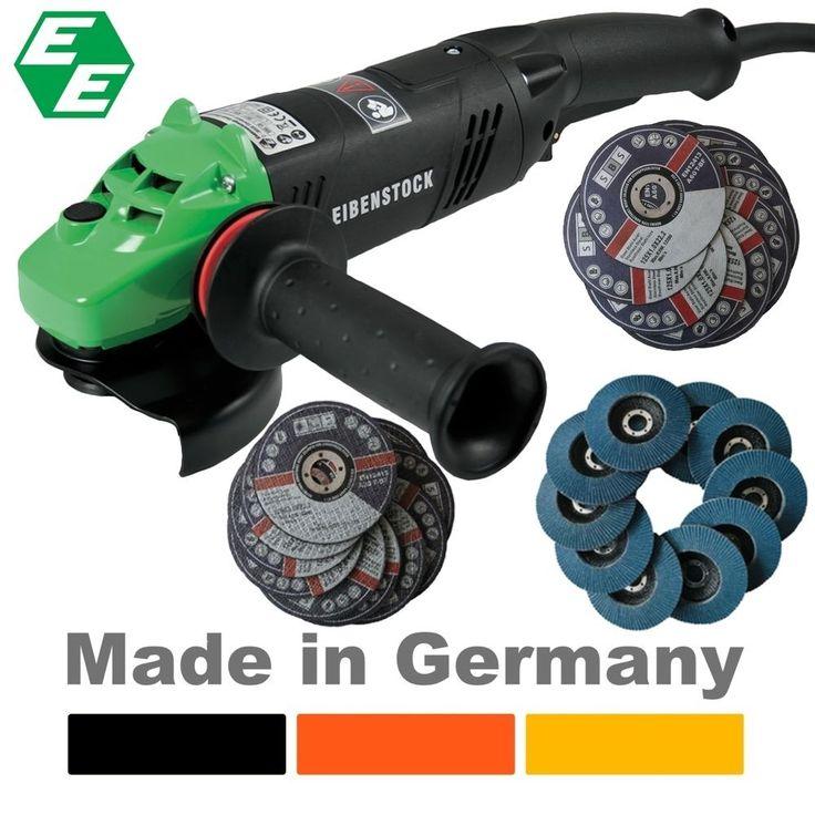 SET Profi Winkelschleifer EZW125 + 10 Fächerscheibe + 20 Trennscheibe Eibenstock