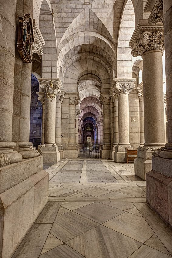Neo-romanesque crypt in Madrid - another HDR photo ~ http://hdrphotographer.blogspot.com/2013/04/neo-romanesque-crypt-in-madrid-another.html