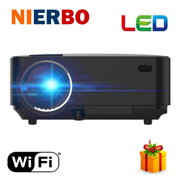Cheap Android Projector Red Blue 3D video movies HDMI Projector 1920x1080P Analog TV LED Beamer Wifi Projector for Home Cinema //Price: $133.06//     #shopping