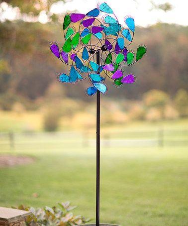Plow U0026 Hearth Purple U0026 Blue Garden Spinner