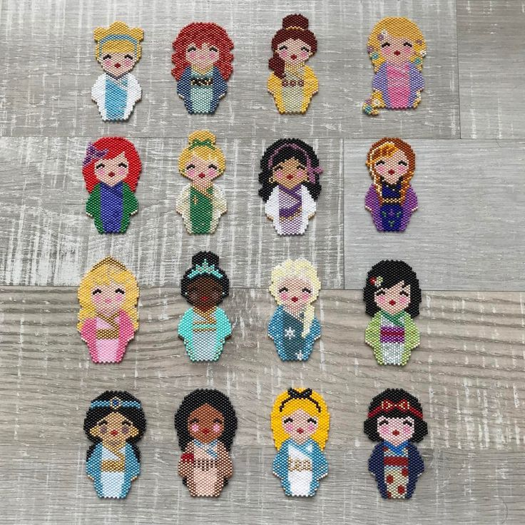 Les petites princesses de @coeur__citron au complet #motifcoeurcitron #handmade #diy #disney #perles #perlesandco #perlesaddict #perlesmiyuki #perlezmoidamour #miyuki #miyukibeads #miyukiaddict #miyukidelica #brickstitch #jenfiledesperles #jenfiledesperlesetjaimeca #jenfiledesperlesetjassume #jesuisunesquaw