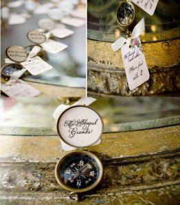 Μια όμορφη πυξίδα αποτελεί ιδανική επιλογή για εσάς που επιθυμείτε η μπομπονιέρα του γάμου σας να είναι και  δώρο καλεσμένου! Συνδυάζεται τέλεια με vintage ευχαριστήριο καρτελάκι!