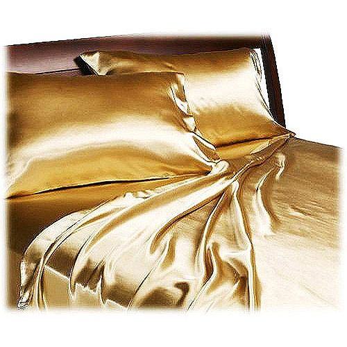 Because everyone needs a little bit of gold in their life. Royal Opulence Satin Sheet Set - Walmart.com