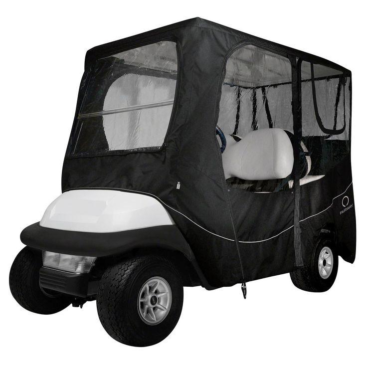 Fairway Golf Cart Deluxe Enclosure Long Roof - Black  #love #inspiredbeacon #organic  #Camping #Accessories