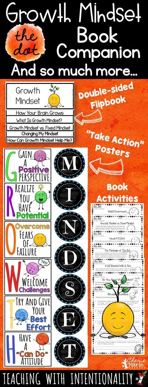 Introduce growth mindset with activities to go with this powerful read aloud, The Dot. This resource also includes ADORABLE growth mindset anchor posters, a double-sided flipbook, and a pennant activity where students create a growth mindset classroom display that encourages them all year long.
