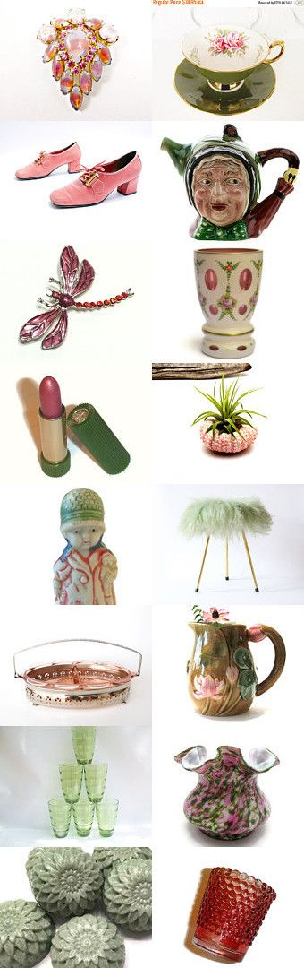 September Mood of the Moment - Pink and Green by Encore Emporium on…
