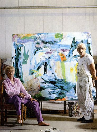 Elaine and Willem de Kooning 1982 | Flickr - Photo Sharing!