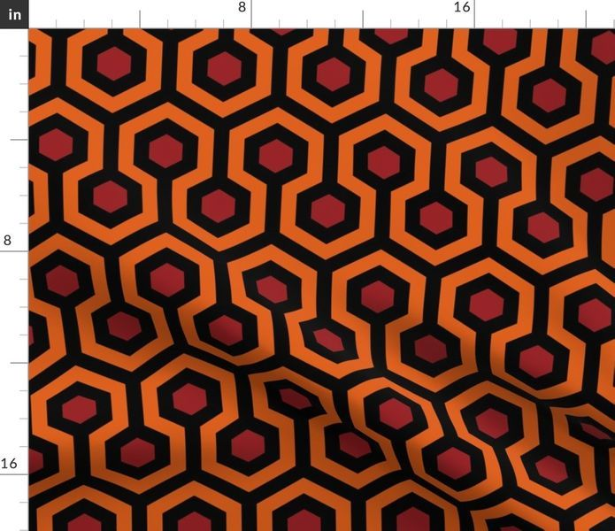 Colorful Fabrics Digitally Printed By Spoonflower Overlook Hotel