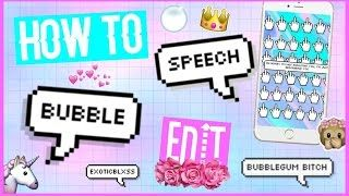 HOW TO MAKE PIXEL SPEECH BUBBLE TUMBLR EDIT- PC AND iOS IPHONE METHOD || ExoticBlxss - YouTube