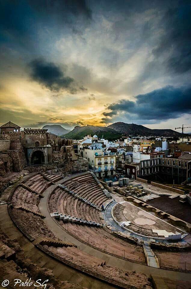 HISPANIA ROMANA - Teatro Romano de Cartagena, Murcia, Spain.