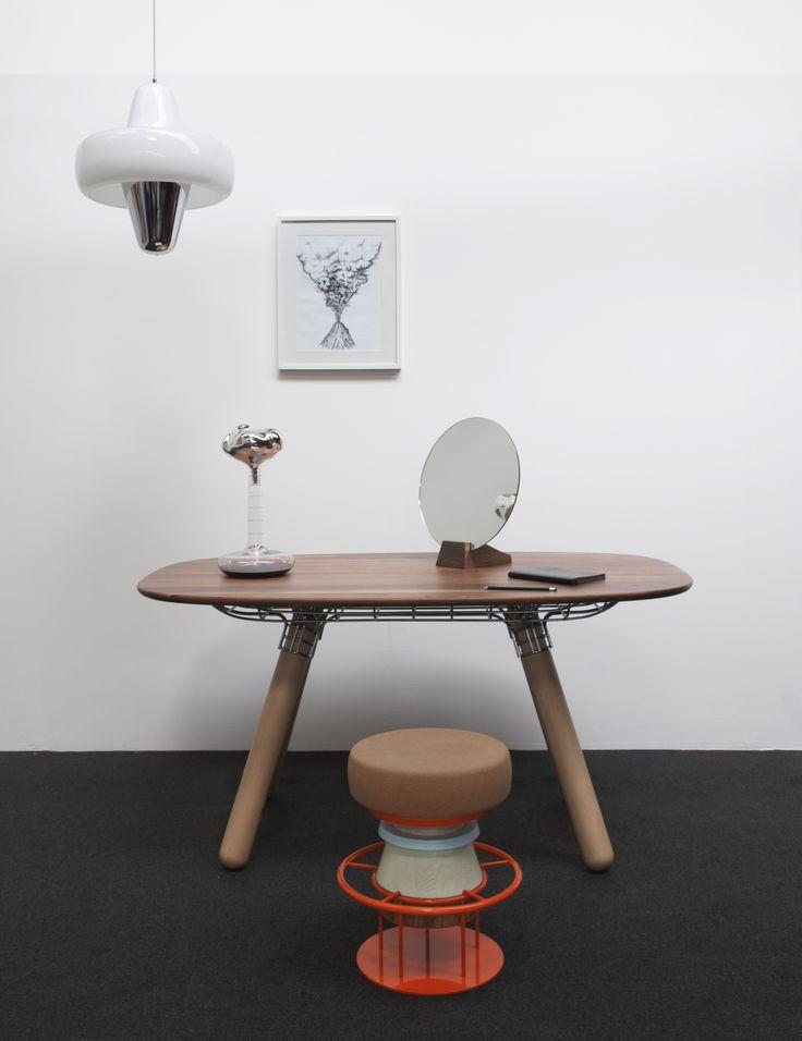 Magnum Table, Novy Bor Carafe, Lalou Mirror, Tembo Stool, Swan Pendant Light