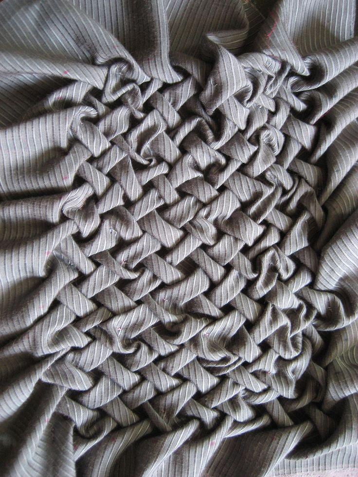 Canadian Smocking Sample . Fabric Manipulation . Textiles
