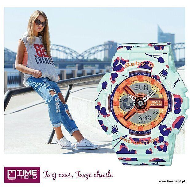 Baby-G Flower Leopard. Sportowy zegarek w modnym stylu.  #sport #babyg #kolor #kwiaty #zegarek #zegarki #zegarkidamskie #leopard