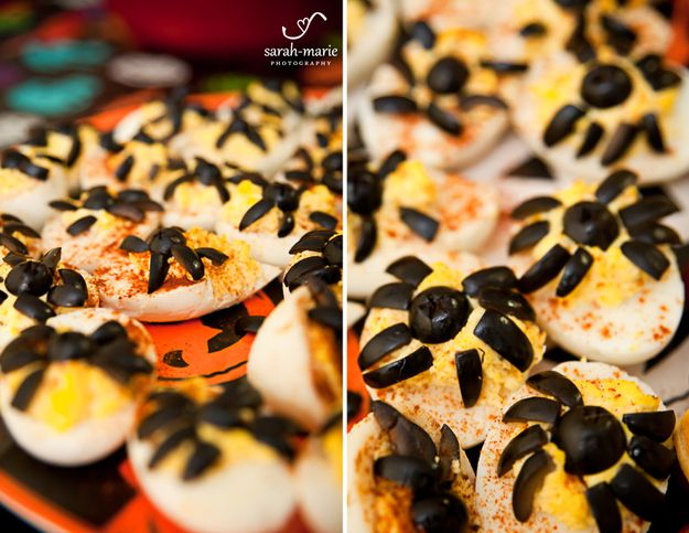 Spider Deviled Eggs   27 Fun Snacks For A Halloween Party