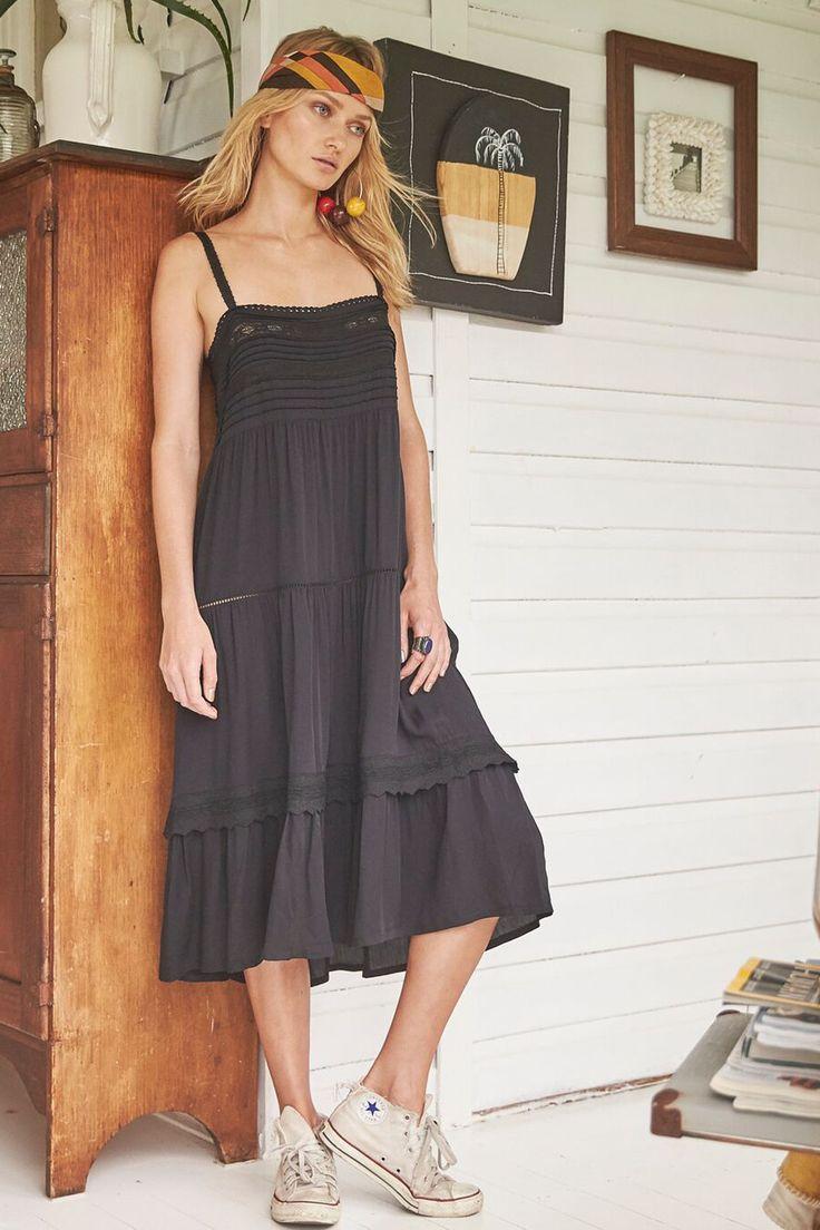 Auguste - Sandy Days Day Dress   Black