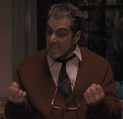 """""""Just when I thought I was out, they pull me back in."""" Michael Corleone (Al Pacino) in The Godfather Part III 1990."""