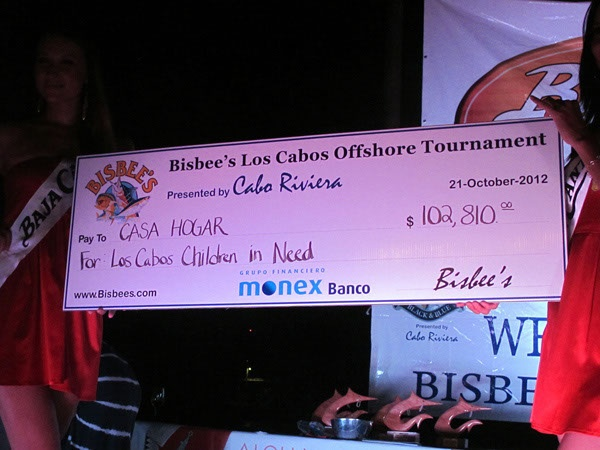 """Fishing For a Cause!! Charity is the Big Winner in the 2012 Los Cabos Offshore!!  """"This year and for now on all the Los Cabos tournament proceeds are going to support Casa Hogar, a children's orphanage here in Cabo,"""" Director Wayne Bisbee"""