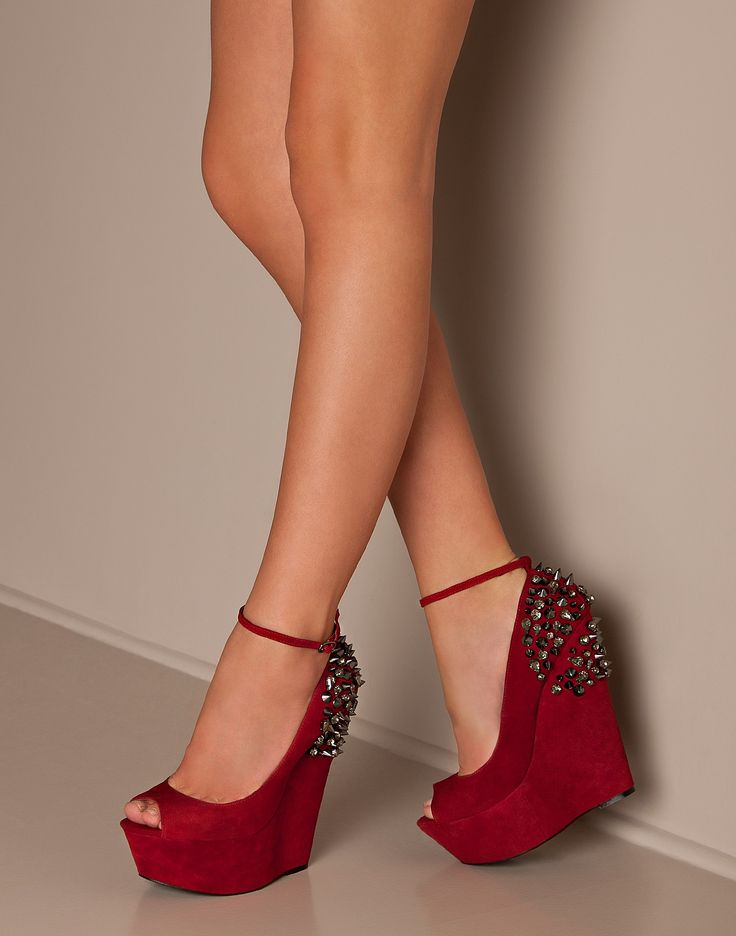 red studded wedges... well where have these been since I was 20??