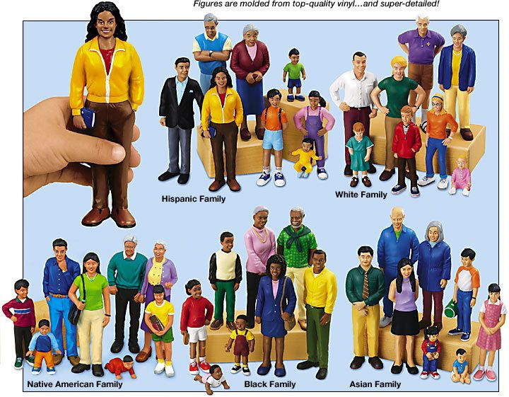 Multicultural Classroom Decor : Lakeshore block play people complete set can purchase