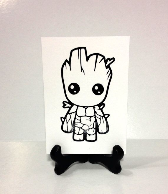 Baby Groot Vinyl Decal Guardians of the Galaxy by TipperaryLane