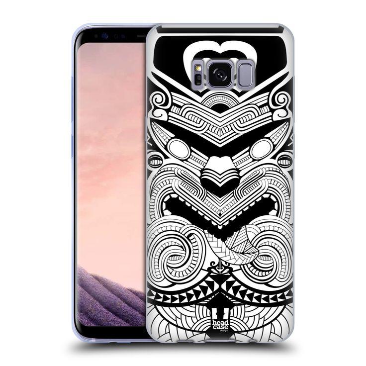 HEAD CASE silikonový obal na mobil Samsung Galaxy S8 vzor Maorské tetování motivy černá a bílá VÁLEČNÍK