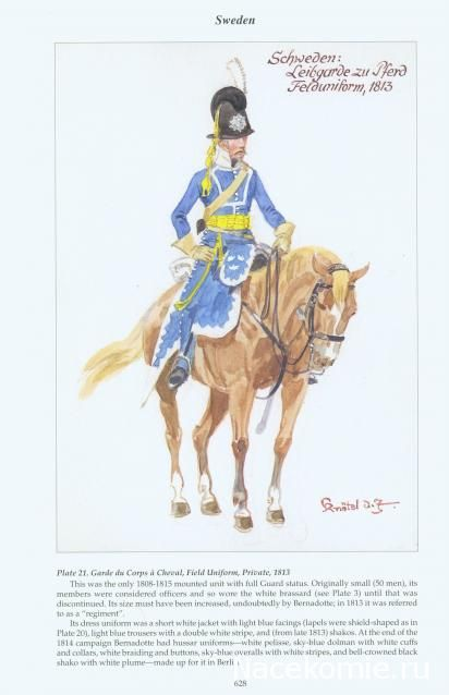 Sweden: Garde du Corps à cheval, Field Uniform Private 1813