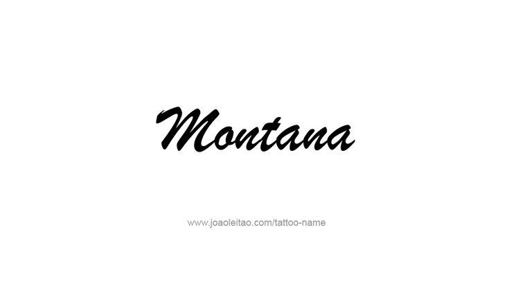 Tattoo Design USA State Name Montana