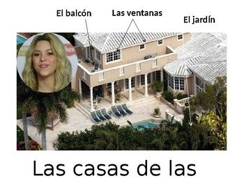 Learn and teach the parts of the house while touring Shakira's house in Miami.