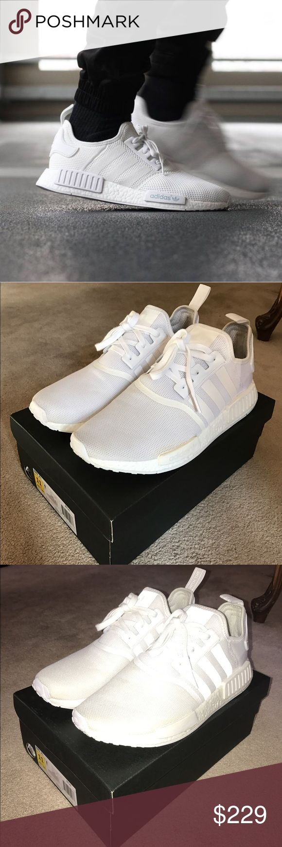 Adidas Triple White NMD 2017 Cared for and worn by sneaker head, carefully and thoughtfully worn, worn three times. Adidas Shoes Sneakers