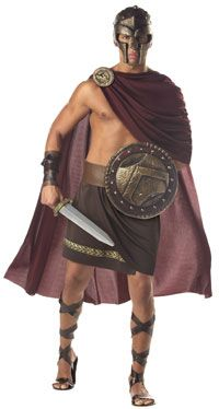 Ha ha, Spartan costume. Don't know if he'd go for this one.