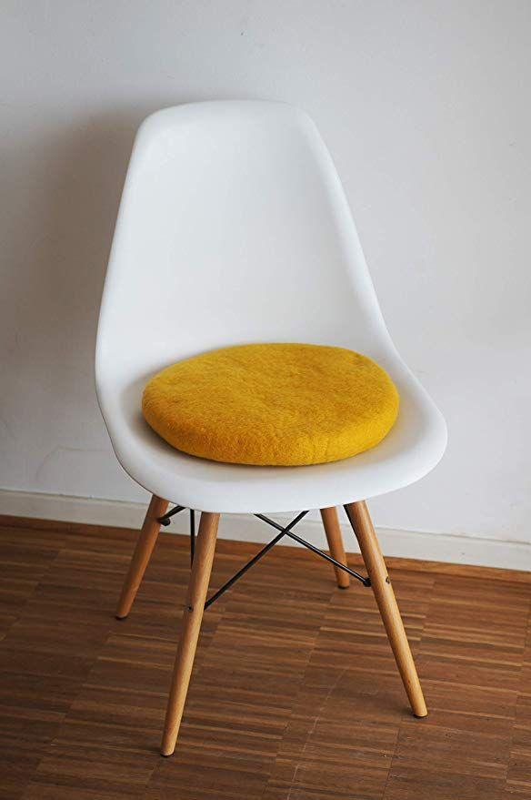Cuscini Di Design.8 Natur 8 Cuscini Per Sedia In 100 Puro Feltro Merino Per Sedie