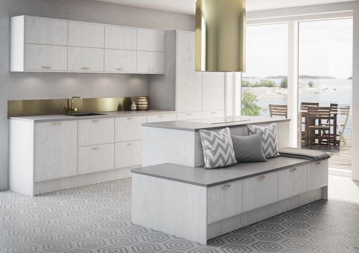 94 Design De Cuisine Blanche Et Grise Tendance Deco Pour 2019 Cuisine Grise Et Blanche Cuisines Deco Decoration De Cuisine Blanche