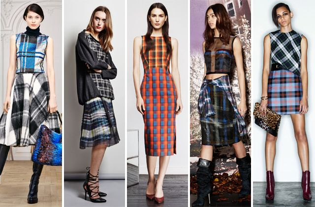 Plaid is sticking around and now add more plaid! Pre Fall 2014 Trends.