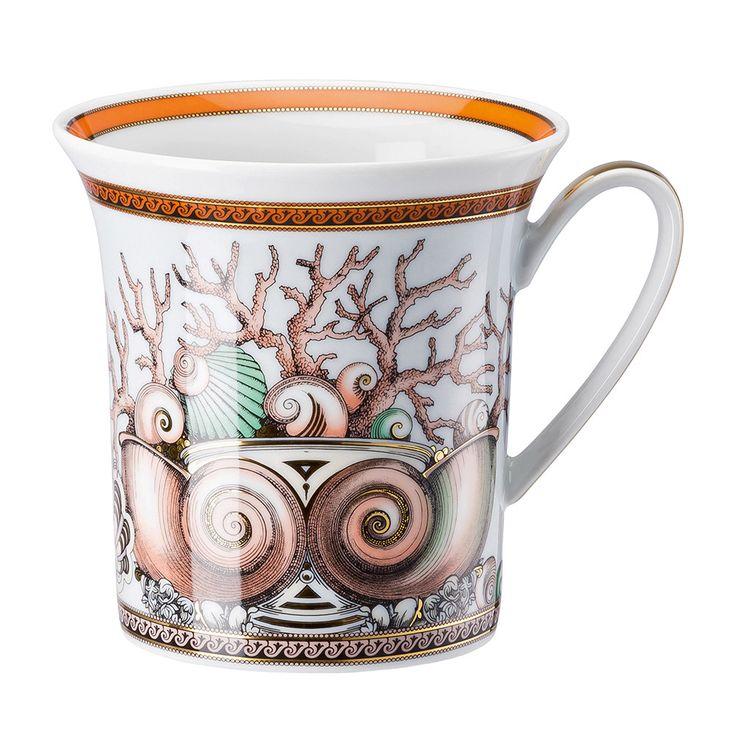 Discover the Versace Les Étoiles de la Mer Mug - White at Amara