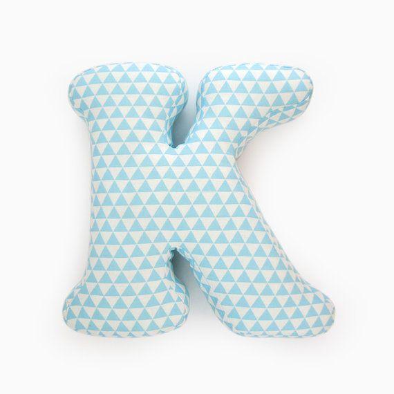 Alphabet Pillow Letter K Alphabet Pillows Initials by LeLoupStudio