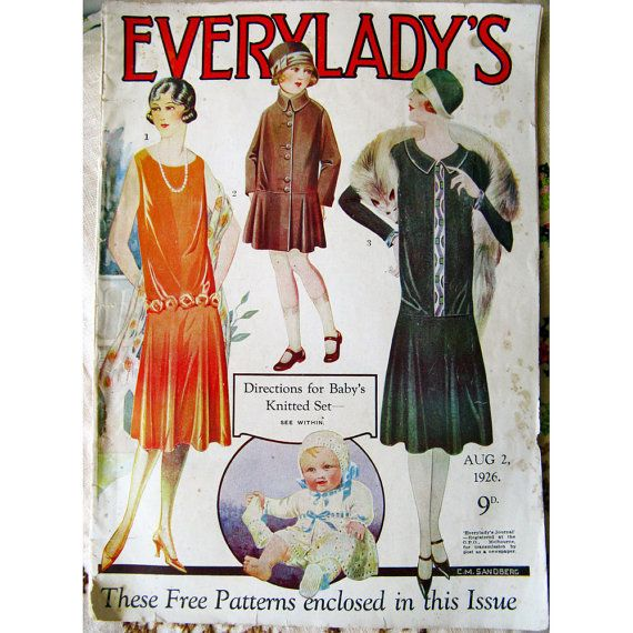 1926 australian everylady 39 s original magazine art deco for Art deco era clothing