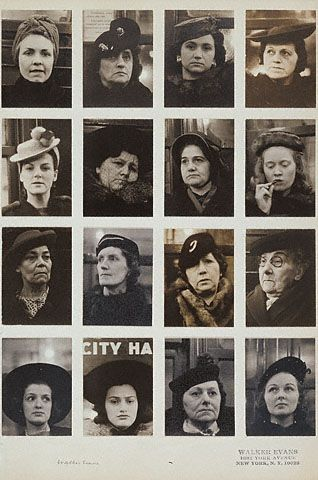 Walker EVANS :: Subway Portraits, NYC, 1938-41; probably assembled about 1959