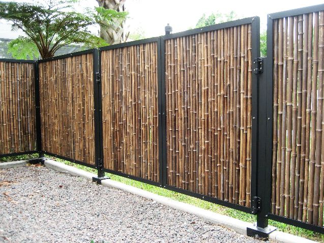 Fence Design Ideas modern fence design pictures remodel decor and ideas Fencing Ideas Bamboo Fences Bamboo Fence Designs Installation Georgia Florida