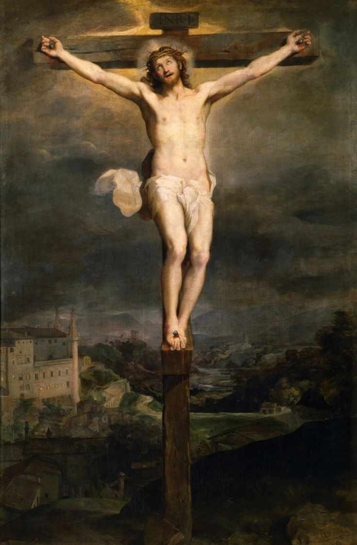 Christ on the Cross / Cristo en la Cruz // 1604 // Federico Barocci // #Jesus #Calvary #Golgotha #Crucifixion #GoodFriday